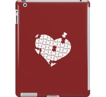 Heart Puzzle White iPad Case/Skin
