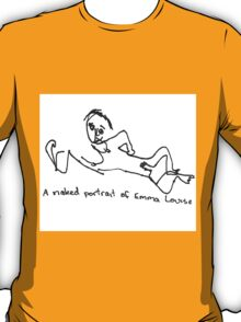A naked portrait of Emma Louise T-Shirt