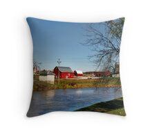 Barn Across the Water Throw Pillow