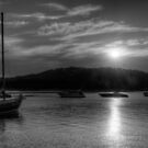 Twilight (Monochrome) - Newport, Sydney - The HDR Experience by Philip Johnson