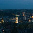 Early evening over Lviv by Oleksii Rybakov