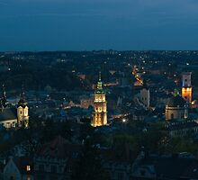 Early evening over Lviv by Oleksii Rybakov
