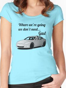 Where we're going... Women's Fitted Scoop T-Shirt