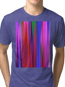Colorful Rain Abstract Tri-blend T-Shirt
