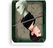 Lord Voldemort Playing Card Canvas Print