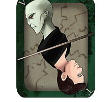 Lord Voldemort Playing Card Photographic Print
