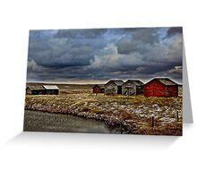 Wooden Grain Bins of Alberta Greeting Card