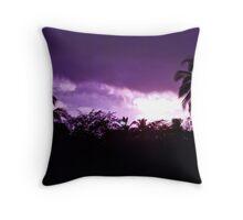 Purple Palm tree Sky Throw Pillow