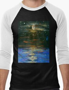 Night Sky at Sea Men's Baseball ¾ T-Shirt