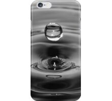 Water Drop Black and White iPhone Case/Skin