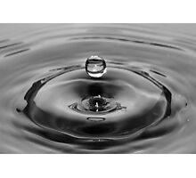 Water Drop Black and White Photographic Print