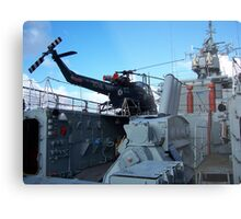 Helicopter on HMS Plymouth Metal Print