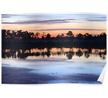 Sunrise on Webb Lake Poster