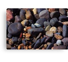 beach rocks Canvas Print