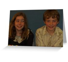 Cousins!! ...which one farted? Greeting Card