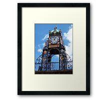 Clock in Chester Framed Print