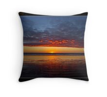 Reflections Of The Setting Sun Throw Pillow