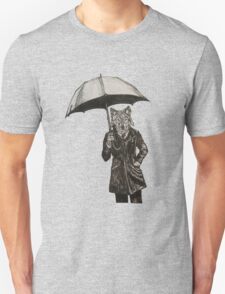 Wolf with Umbrella Unisex T-Shirt