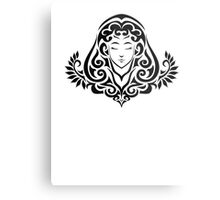 Zodiac Sign Virgo Black Metal Print
