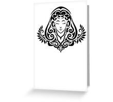 Zodiac Sign Virgo Black Greeting Card