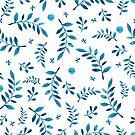 - Blue branch pattert - by Losenko  Mila