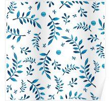 - Blue branch pattert - Poster