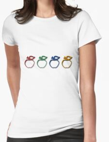 Plastic Apples Womens Fitted T-Shirt