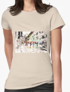 Vienna Rhapsody in Greys Womens Fitted T-Shirt