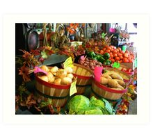 """Fall Vegetable Market"" Art Print"