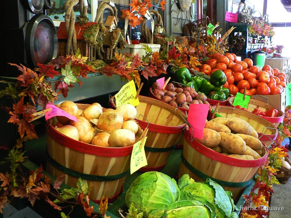 """Fall Vegetable Market"" by franticflagwave"