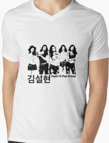Seolhyun x 5 (Super k-pop group) Mens V-Neck T-Shirt