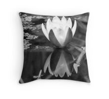 Floating Flower Throw Pillow