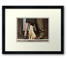 A Soldiers Goodbye Framed Print