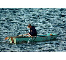 Rowing to Work Photographic Print