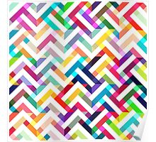 Seamless pattern with geometric  Poster
