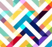 Seamless pattern with geometric  Sticker