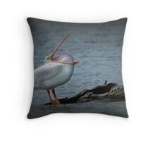 Pelican Yoga Throw Pillow