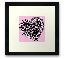 Valentine Heart 2 Angled Aussie Tangle by Heather Holland Framed Print
