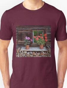 Window and Geraniums Unisex T-Shirt