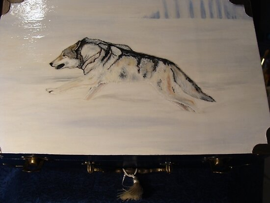 Running Winter Timberwolf Box by Catherine  Howell