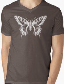 Butterfly Ghost Mens V-Neck T-Shirt