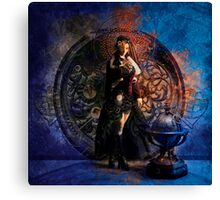 Captain Persephone Blue Canvas Print