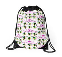 PRETTY I LOVE GYMNASTICS DESIGN Drawstring Bag