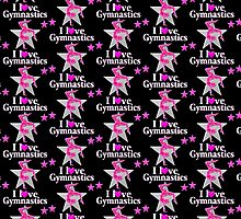 SPARKLING PINK STAR GYMNAST by JLPOriginals