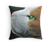 Max - the cat - portrait Throw Pillow