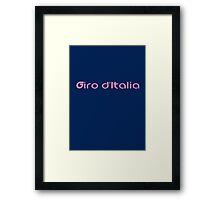Giro d'Italia (1) Framed Print