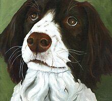 Rueger - dog portrait by LindaAppleArt