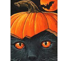 Bats in the Belfry? - halloween painting Photographic Print
