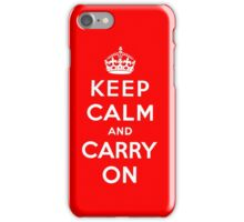 KEEP CALM AND CARRY ON (BLACK) iPhone Case/Skin