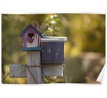Birdhouse Hearts Poster